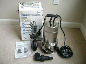 PacificHydrostar Stainless Submersible Dirty Water Pump 1HP 69300 5/8 solids