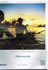 Publicité Advertising 2011 Compagnie aerienne Air Tahiti Nui Tourisme