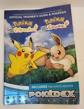 Pokemon Let's Go Pikachu + Eevee Official Trainer's Guide and Pokedex Switch