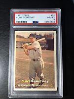1957 Topps Clint Courtney PSA 4 Washington Senators