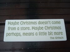 Chic &  shabby vintage the GRINCH CHRISTMAS sign  plaque