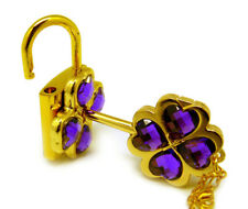 Shugo Chara! /Guardian Characters! Cos Necklace with Purple Gem Key Lock Pendant