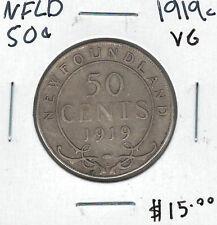 Canada Newfoundland NFLD 1919c 50 Cents VG Lot#8