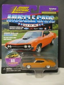 Johnny Lightning Muscle Cars USA 1970 Ford Torino Cobra 1/64 scale diecast