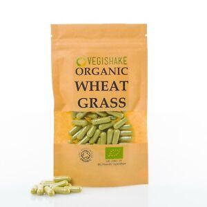 Organic Wheatgrass HPMC Nutrient Boosts Immunity Antioxidant Health Vegan Halal