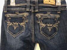 Sang Real jeans womens Sz 26 boot cut medium wash low rise Princess Elin