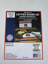 AUBURN U Tigers Tempered Glass CUTTING BOARD SET NEW in Box  Memory Company