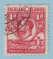 FALKLAND ISLANDS SG 117a LINE PERF  USED - NO FAULTS EXTRA FINE !