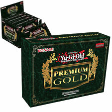 YuGiOh! 75 Premium Gold Cards | 5 Sealed Booster Box Genuine Konami English