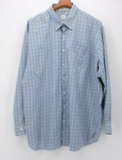 Peter Millar Men's 2XL XXL Blue Tan White Stripe  L/S Button Down Shirt euc