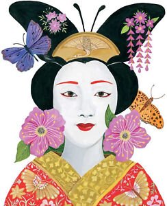 Paperproducts Design 1252841 Beverage Napkin, Ron Tanovitz, Madame Butterfly