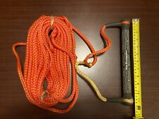 "Ski Rope - 75 Ft., ""The Performer"" Brand, Orange 1/2 "" Nylon *Good Condition*"
