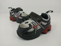 Nike Shox Shoes Toddlers Unisex Size 3C Athletic Casual Black Red