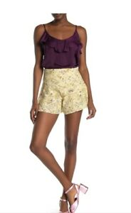 Free People Womens New Shallow Waters Short Skirt Size XS Yellow