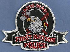 FIRST NATION MI'K MAQ CANADA TRIBAL POLICE PATCH