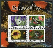 More details for palau butterflies stamps 2020 mnh zebra longwing swallowtail butterfly 4v m/s ii