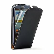 Ultra Slim BLACK Leather Case Cover For Samsung Galaxy S 3 Neo+, Neo, GT-i9300i
