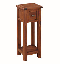 Prussia Acacia Telephone Table / Solid Dark Wood Hall Table / Tall Lamp Table