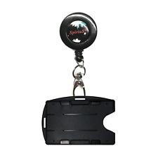 Retractable Lanyard Neck Strap SpiriuS with Breakaway & Choose ID Badge Holder
