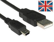 Metro 1.8M Negro USB 2.0 A Macho a Mini B 5 Pin Cable Largo de PC Enchufe de plomo PS3 Reino Unido