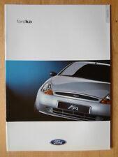 FORD KA 2000 UK Mkt sales brochure - Red Blue Silver Collection Ka3