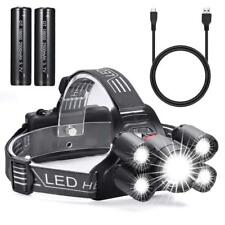 Led Focus Head Light Rechargeable Headlamp Running Camping Waterproof Head Torch