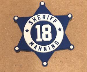Peyton Manning Sheriff Badge For Schutt Riddell Speed Flex Riddell Speed