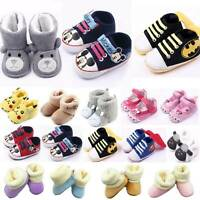 Kid Baby Boy Girl Boots Crib Pram Prewalkers Shoes Sneaker Trainers First Walker