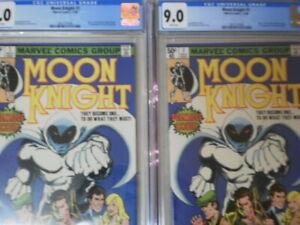 MOON KNIGHT 1 CGC 9.0 NEWSSTAND ORIGIN OF MOON KNIGHT BUSHMAN 1ST DISNEY+ 2 ISS
