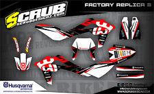 SCRUB Husqvarna TE 450-510 2008-2010 '08 '10 Grafik Dekor-Set
