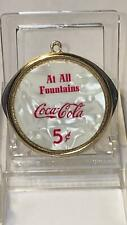 """""""At All Fountains"""" Coca Cola Round Made in U.S.A. Cigar Cutter Knife"""