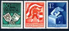 AUSTRIA-1950 Corinthian Plebiscite set Sg 1212-4 UNMOUNTED MINT V18093