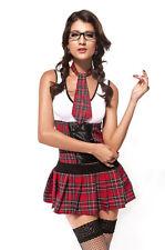 Costume travestimento studentessa vestito carnevale gonna scozzese 8477