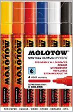 Molotow uno 4 todos 227 - 6 Piezas Dibujo marcador Pluma Set-Base Set 1