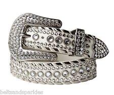 Kippys Kippy Swarovski Crystal White Leather Belt 38 XXL New