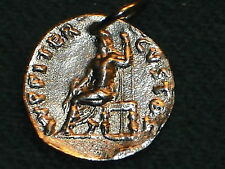 ANCIENT ROMAN RARE COIN PENDANT NERO JUPITER CUSTOS  54 BC  FREE SHIP