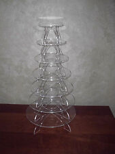 """Acrylic Cupcake Stand - Clear - 7 Tiers - 3/16"""" Thick"""