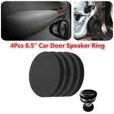 4Pcs 6.5'' Car Speaker Ring Bass Door Trim Noise Sound Insulation Foam Pad Kit
