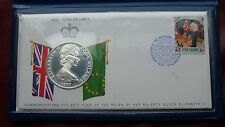 Cook Islands 1977 silver proof  25 dollars/first day cover