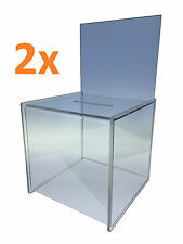 2x Large Ballot Competition Entry Box