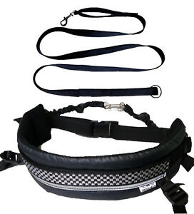 MMDOGGEAR Canicross Belt Fixed Shock Lines & removable leg strap +Free Lead