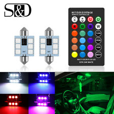 RGB LED 39mm 5050 SMD 6 LED Bulb Car Interior Dome Reading Lights Festoon Lamp
