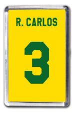 Roberto Carlos Brazil Number 3 Football Shirt Fridge Magnet Design