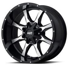 20x9 BLACK wheels rims MOTO METAL 970 2011-2018 CHEVY GMC 2500 3500 8X180 +18mm