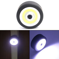 COB LED Round Flashlight Torch Car Inspection Light W/ Magnetic Base+Adjust Hook