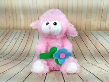 "Greenbrier International Pink Lamb with blue flower Plush 9"" Easter (ED33)"