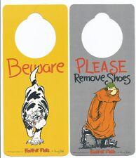 BEWARE (OF THE CAT) -  DOOR HANGER SIGN - FOOTROT FLATS - COLLECTABLE