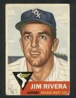 1953 Topps #156 Jim Rivera VG/VGEX RC Rookie White Sox DP 80174