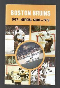 ORIGINAL 1977-78 BOSTON BRUINS NHL MEDIA GUIDE YEARBOOK FACT BOOK