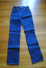 1980's Men's Lee Dark Wash Jeans Size 28 x 36, Made in USA, Deadstock